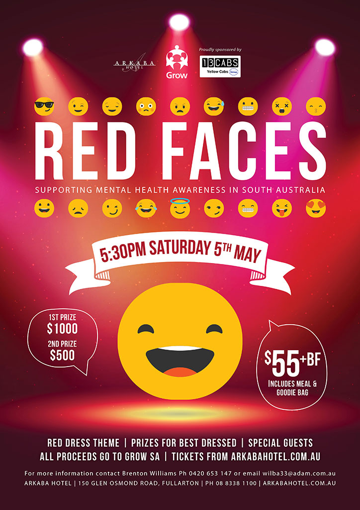 Red Faces 2018 Poster