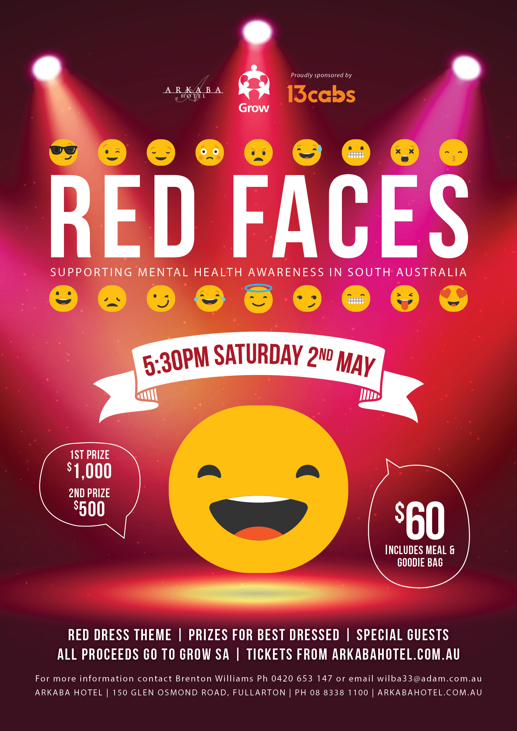 Red Faces Variety Show supporting GROW SA 2020